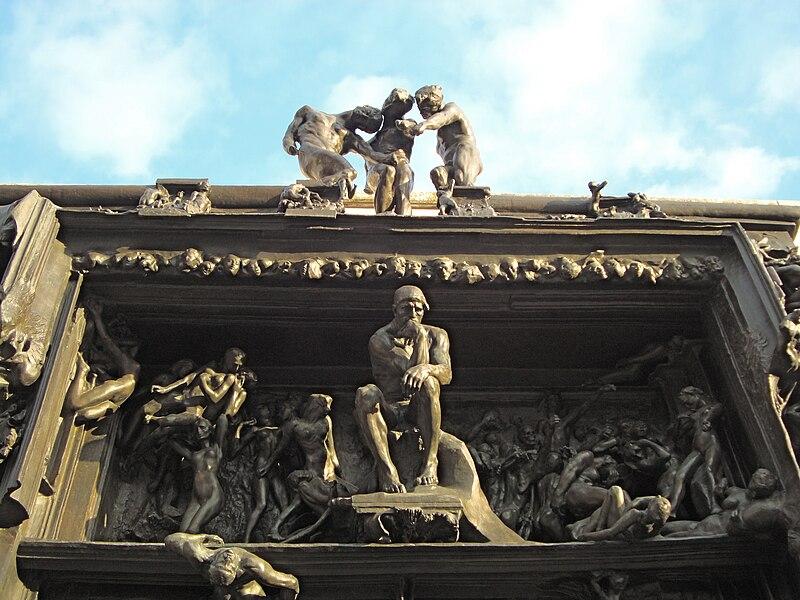 La porte de l 39 enfer d 39 auguste rodin uvre maudite - La porte de l enfer rodin ...