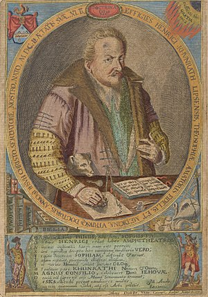 Heinrich Khunrath - Image: Portrait of Heinrich Khunrath. Amphitheatrum sapientiae aeternae Wellcome L0050107 (cropped)