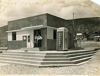 Nesher - Post office building in Nesher, 1938
