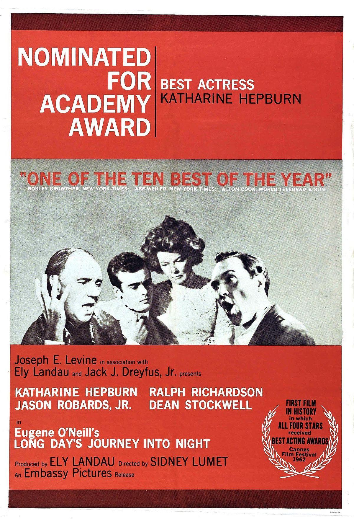 long days journey into night 1962 film wikipedia