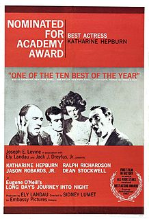 <i>Long Days Journey into Night</i> (1962 film) 1962 film by Sidney Lumet