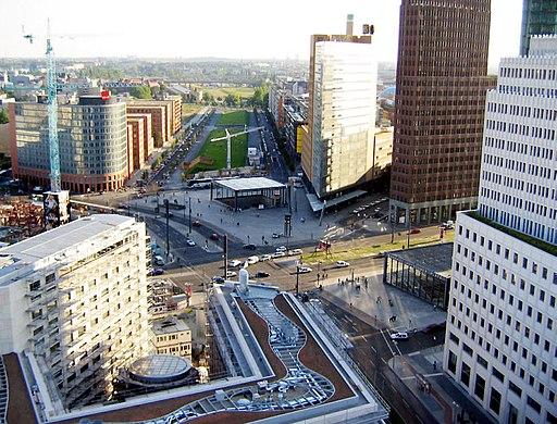 PotsdamerPlatz Vogelperspektive 2004 2