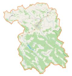 Mapa lokalizacyjna powiatu gorlickiego