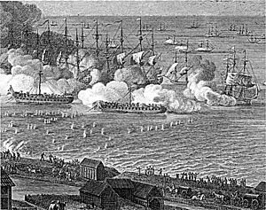 Prøvestenen, Copenhagen - Prøvestenen in the Battle of Copenhagen in 1801