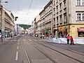Pražský maraton, Ostrovského - Nádražní, zábrany.jpg