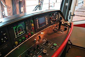Rapid transit technology - Prague Metro, M1 driver panel