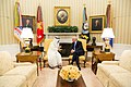 President Donald Trump meet with His Highness Sheikh Mohamed bin Zayed Al Nahyan, Crown Prince of Abu Dhabi, in the Oval Office of the White House, Monday, May 15, 2017 (01).jpg