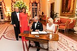 President Trump and First Lady Melania Trump at Winfield House (48008746136).jpg