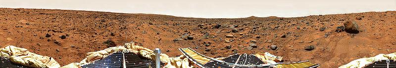 Круговая панорама, снятая камерой спускаемого аппарата.