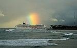Pride of America heading into Honolulu (4610730597).jpg