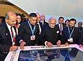 Prime Minister Narendra Modi Narendra Modi visits India Pavilion at COP21 in Paris (23739656541).jpg