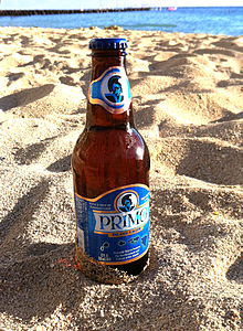 Primo Beer at Kaimana Beach.JPG