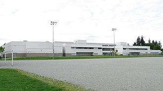 Princess Margaret Secondary School (Surrey) - Image: Princess Margaret Secondary (rear view 2010)
