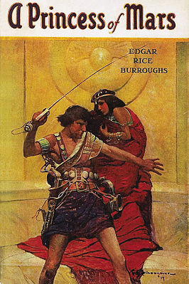 Cover van A Princess of Mars door Edgar Rice Burroughs, McClurg, 1917