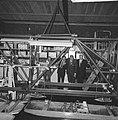 Prins Bernhard opende golfstromingslaboratorium te Wageningen, de Prins bij het , Bestanddeelnr 917-8658.jpg