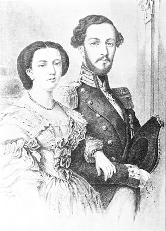 Sophia of Nassau - Prince Oscar and Princess Sophia at the time of their marriage in 1857.