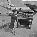 Prinses Beatrix van Schiphol vertrokken naar Engeland voor bijwonen Ascot, Bestanddeelnr 916-5434.jpg