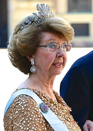 Princess Désirée, Baroness Silfverschiöld - Silfverschiöld prior to the wedding of her niece Madeleine in June 2013