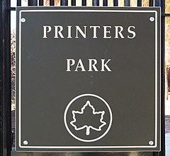 Printer's Park Sign.jpg