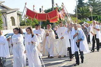 Portuguese people - Procession in Amares e Figueiredo, Portugal