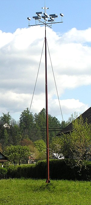 "Lightning rod - ""Machina meteorologica"" invented by Diviš worked like a lightning rod"