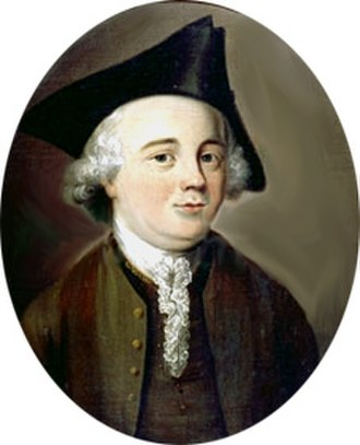 "John Kay (flying shuttle) - Portrait, said to be of John Kay in the 1750s, but probably of his son, ""Frenchman"" John Kay."
