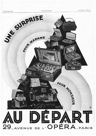 Au Départ - Image: Publicité pour la maison Au départ, L'Illustration 1928