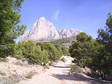 A view of Puig Campana Mountain