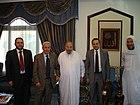 Qaradawi with Burhan Ghalioun.jpg