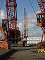 Quayside Cranes at New Holland Dock - geograph.org.uk - 1762013.jpg