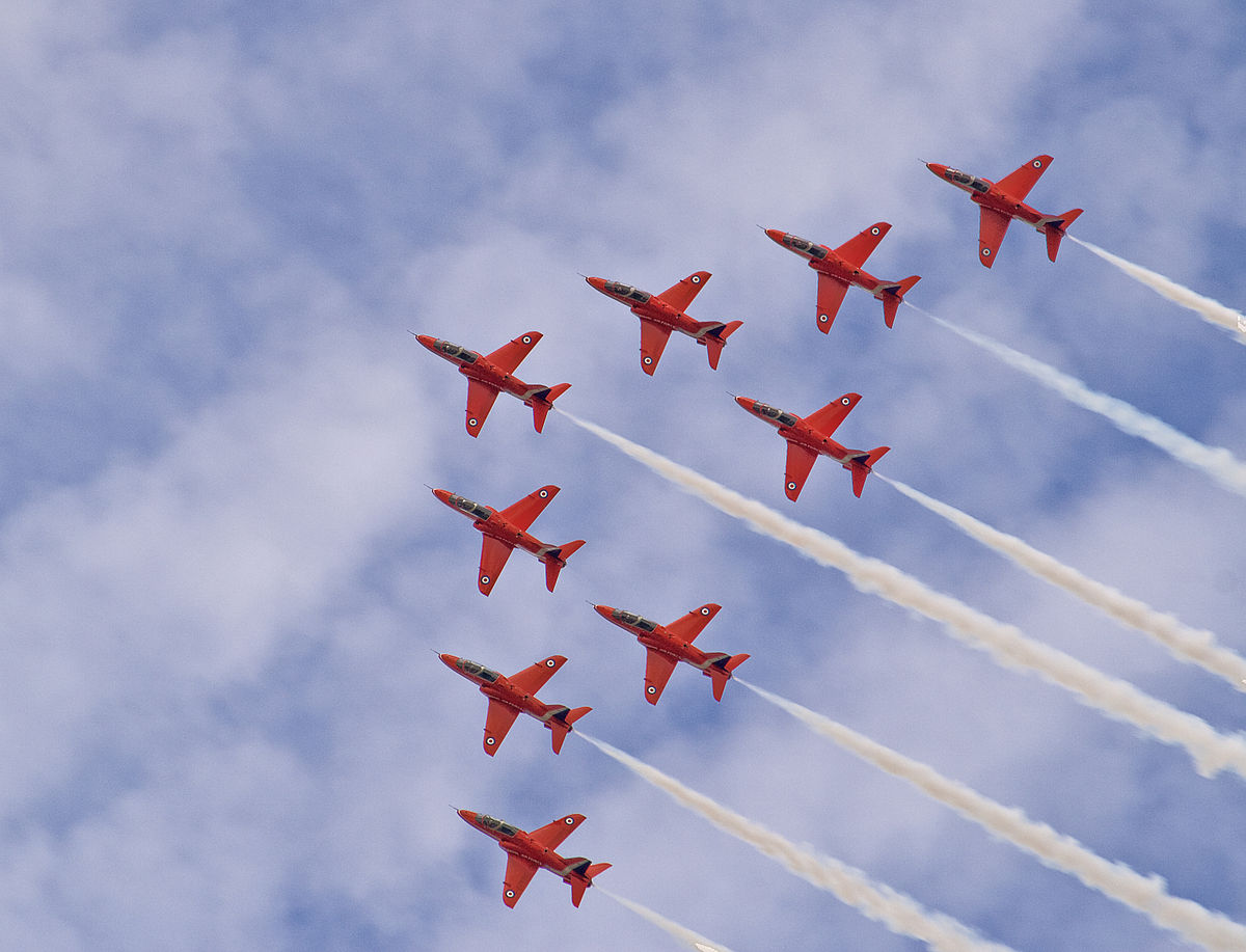 Red arrows wikipedia for Airplane show