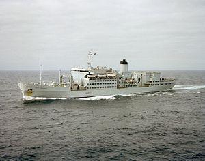 RFA Fort Grange (A385) underway c1982.JPEG