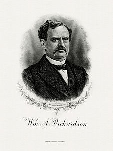 RICHARDSON, William A-Treasury (BEP engraved portrait)
