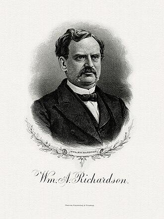 William Adams Richardson - Bureau of Engraving and Printing portrait of Richardson as Secretary of the Treasury.