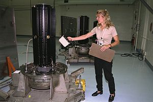 Ionization chamber - Hand-held integral ion chamber survey meter in use