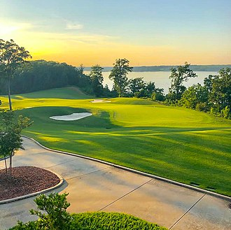 The Robert Trent Jones Golf Trail has a large economic impact on the state. RTJattheshoals.jpg