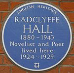 Radclyffe Hall 37 Holland Street blue plaque.jpg