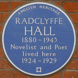 Holland Street, Kensington - Radclyffe Hall blue plaque, 37 Holland Street