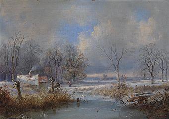 Raden Saleh Bustaman Winterlandschaft