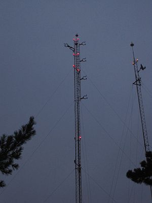 Radio in Mexico - The tower for XHUPC-FM, the radio station of the Instituto Politécnico Nacional