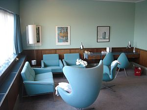 Radisson Blu Royal Hotel, Copenhagen - Image: Radisson SAS Royal Hotel, Room 606, by Arne Jacobsen