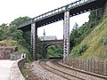 Railway, bridges and church - geograph.org.uk - 231825.jpg