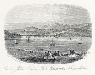 Railway viaduct, Cader Idris, Barmouth, Merionethshire