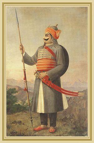 Maharana Pratap by Raja Ravi Varma ((1848 CE -...