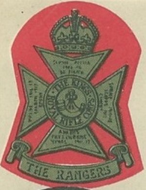 The Rangers (British regiment) - Cap badge of The Rangers ca 1940