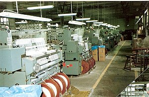Textile industry - Textile factory (Germany, about 1975).
