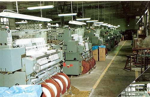 Textile factory (Germany, c. 1975).