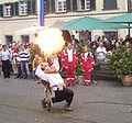 Ravensburg Rutenfest 2005 Festzug Feuerspucker.jpg