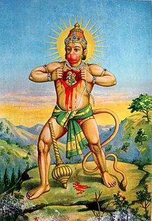 Hanuman Hindu god and a companion of the god Rama