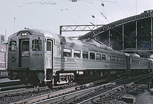 Reading Terminal - A Reading commuter train departs Reading Terminal in September 1964